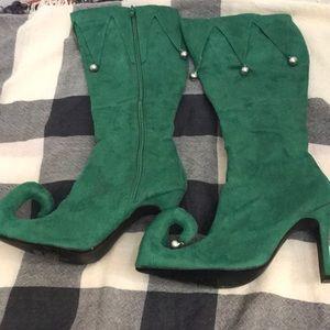 Women/'s Green Elf Boots
